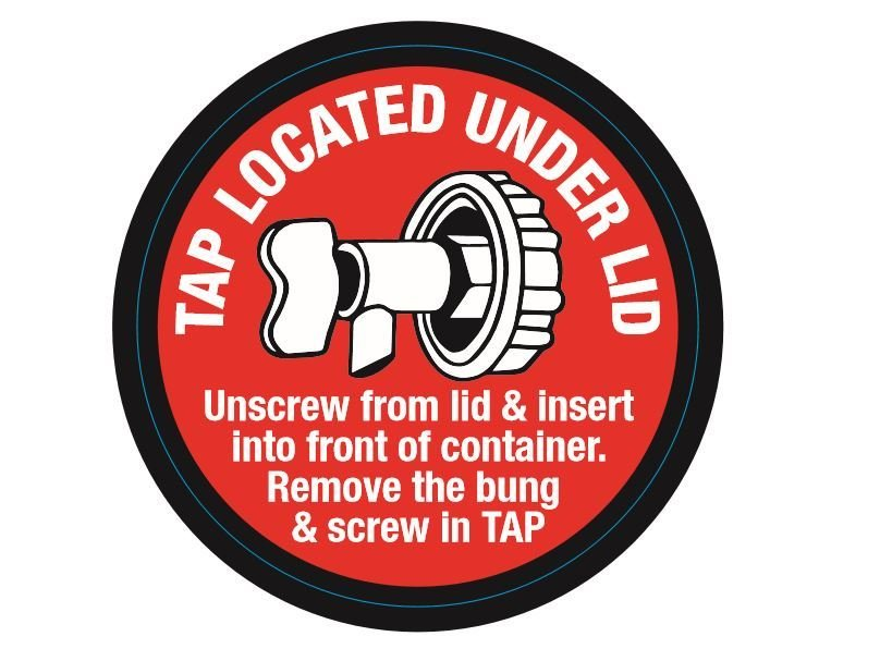 tap under the lid of 10lt version