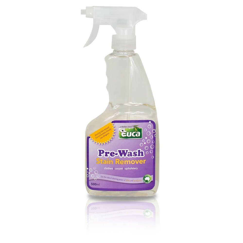 Euca Pre Wash Stain Remover - 500ml - Grease Cutting Power -Super Strong Pre Wash Spray - Natural Citrus & Eucalyptus 561COL