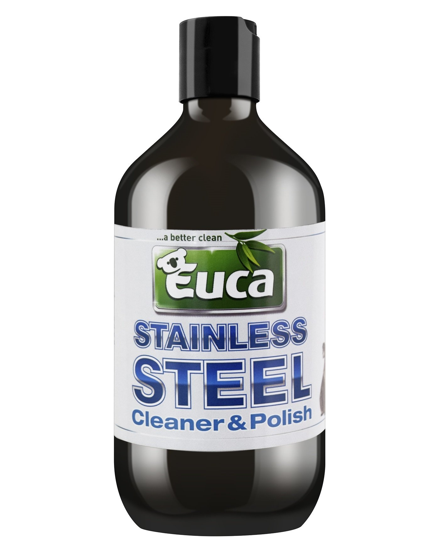 Euca Stainless Steel and all Metals cleaner & Polish - 500ml - Clean & Polish all Stainless Steel Alloy chrome brass copper bronze & more 558C