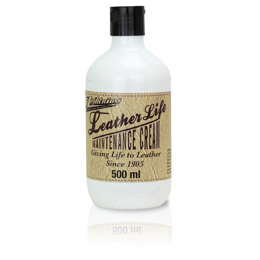 Leather Life - Maintenance cream  500ml - 1800's Blend Revitalise & Protectant Low Sheen finish. Natural Tea Tree and Almond oil 067C