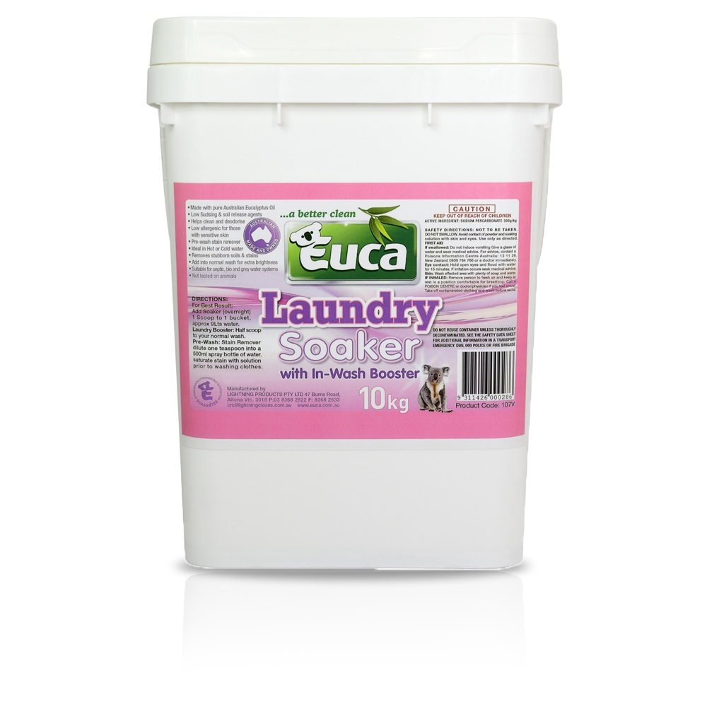 Euca Laundry Soaker & Brightener- 10kg - No added Fillers, biodegradable 107V