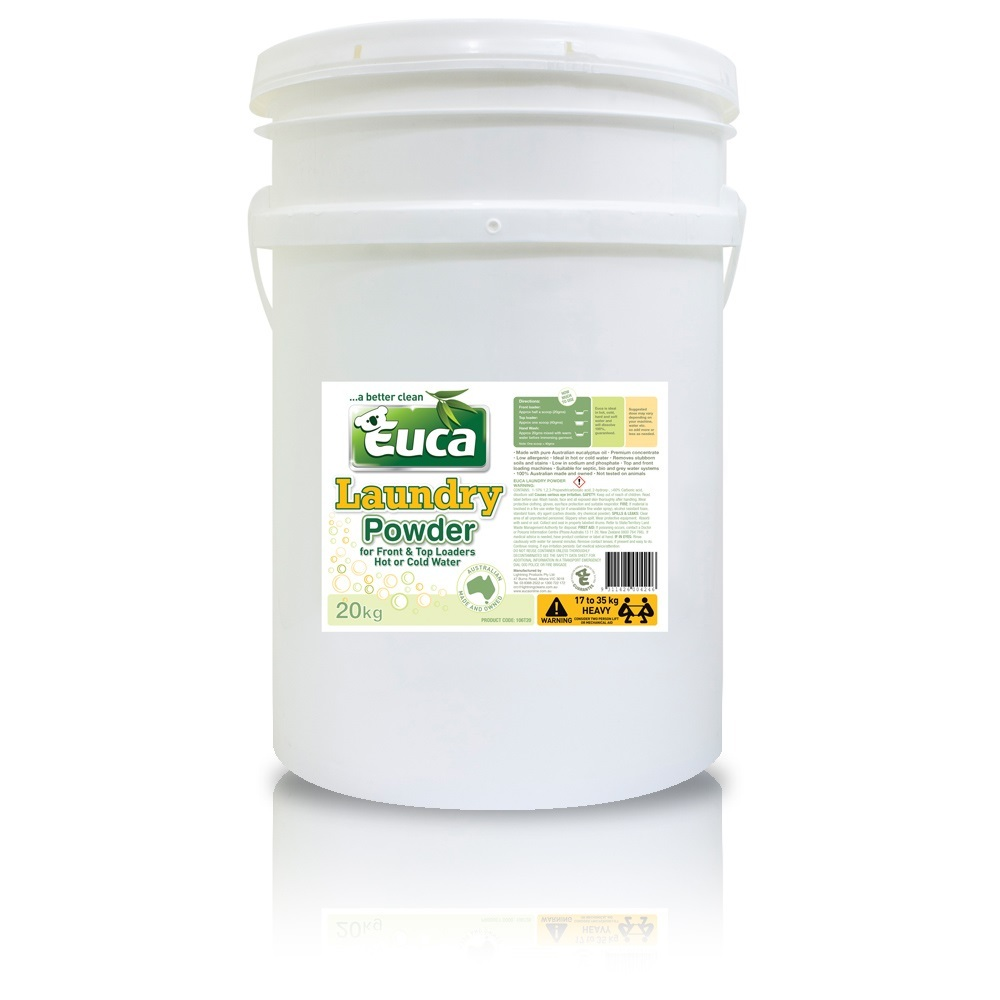 Euca laundry powder 20kg - Concentrate blend = 1000 Washes* 106T20