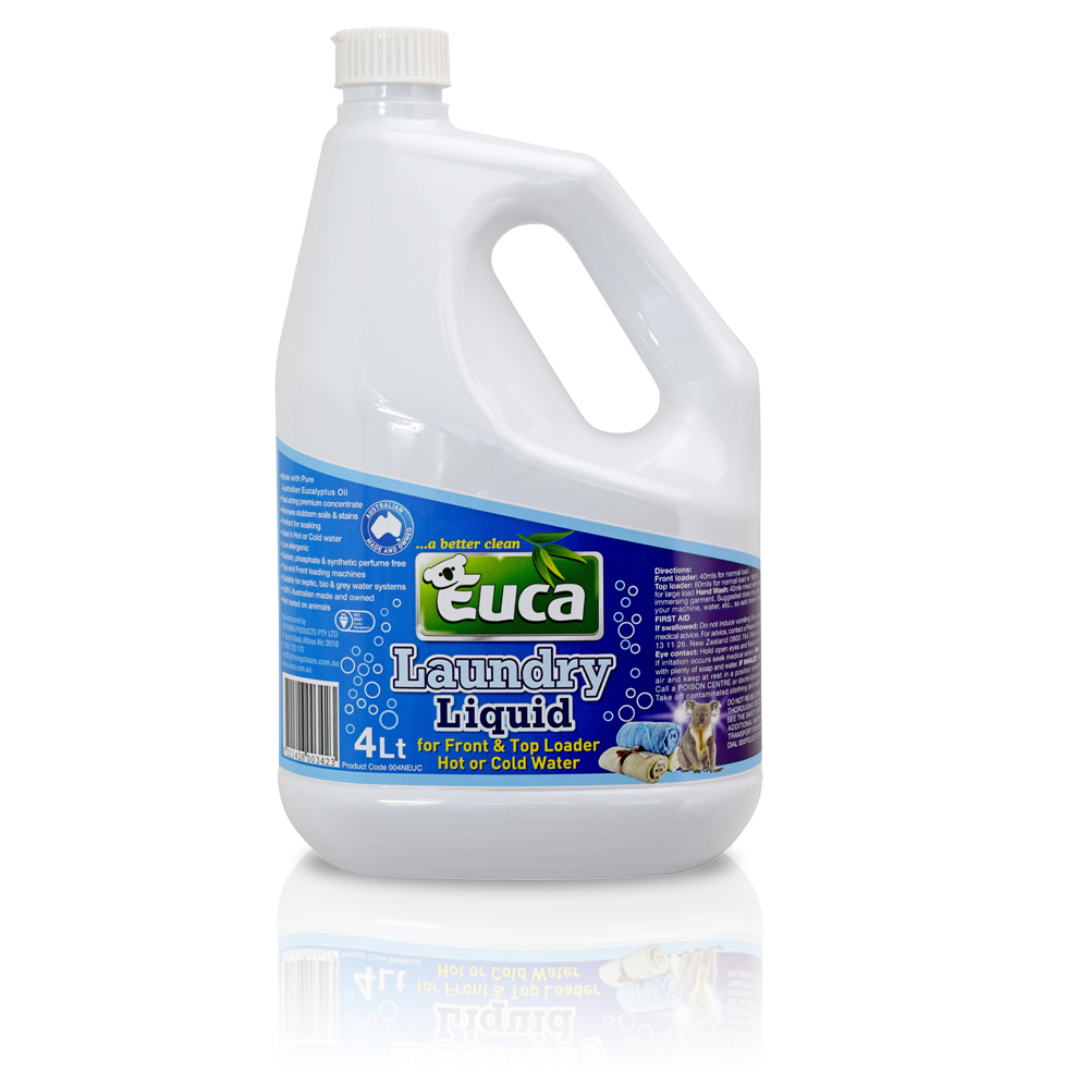 Euca Laundry Liquid  - 4LT - Concentrate = 200 Washes* 004NEUC