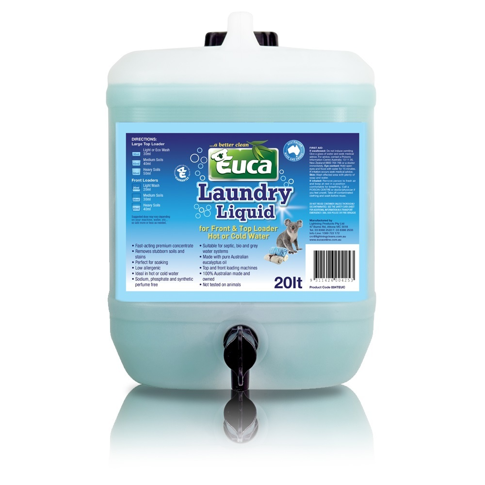 Euca Laundry Liquid  - 20lt - Concentrated = 1000 Washes* 004TEUC