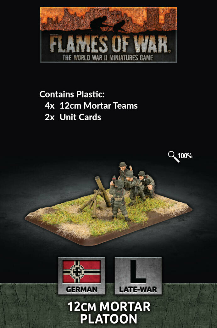 12cm Mortar Platoon (x6 Plastic)