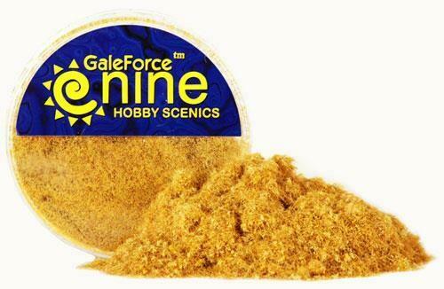 Galeforne Nine: Parched Straw Static Grass