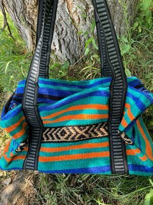 Saddle Blanket Bag - Blue