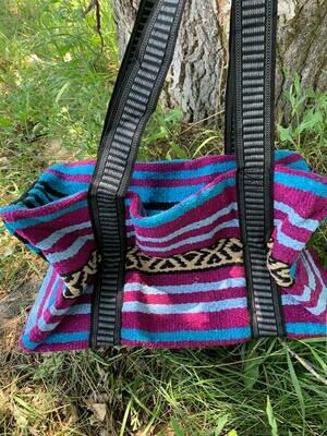 Saddle Blanket Bag - Purple Blue