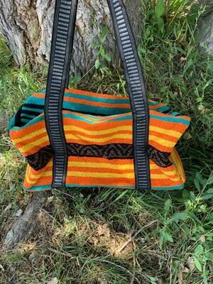 Saddle Blanket Bag - Teal Yellow