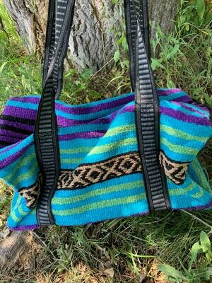 Saddle Blanket Bag - Teal Purple