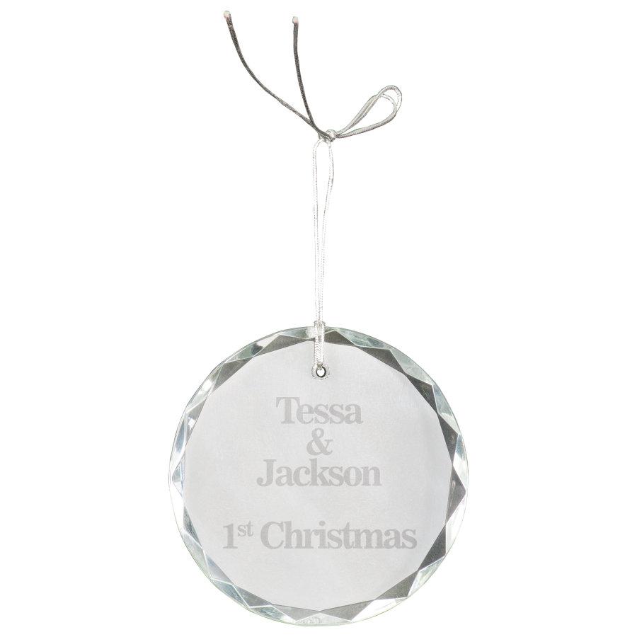 Circle Crystal Ornament