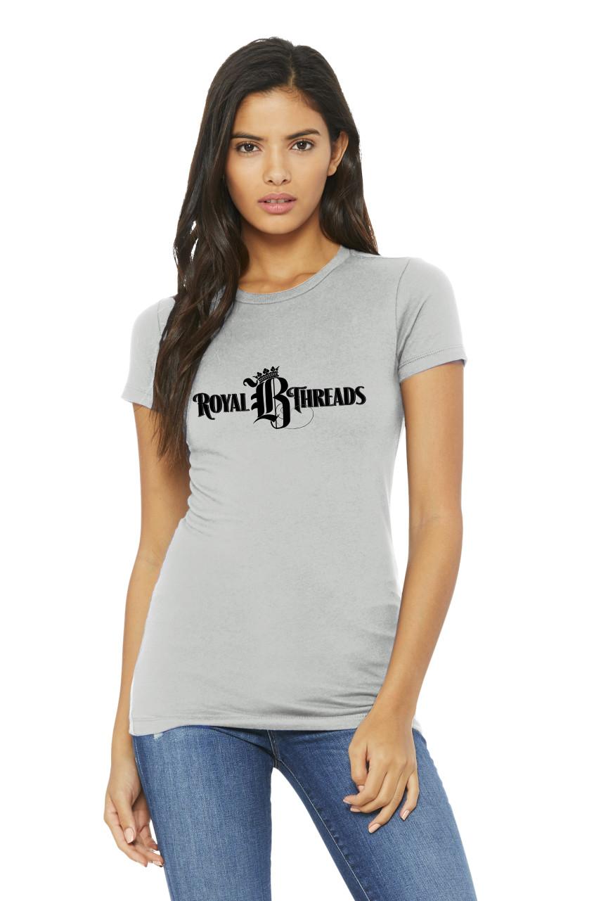 Royal B Threads - Women's Silver Scoop Neck Tee