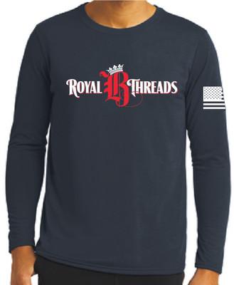 Royal B Threads - Navy Long Sleeve Tee