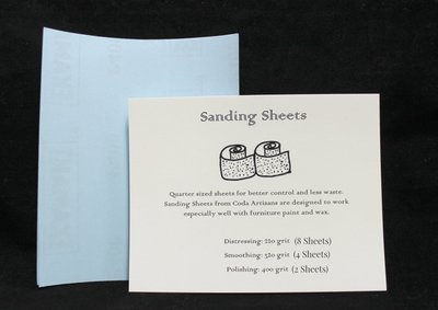 Sanding Sheets (pack of 14- 1/4 sheets, 3 grits: 220, 320, 400)