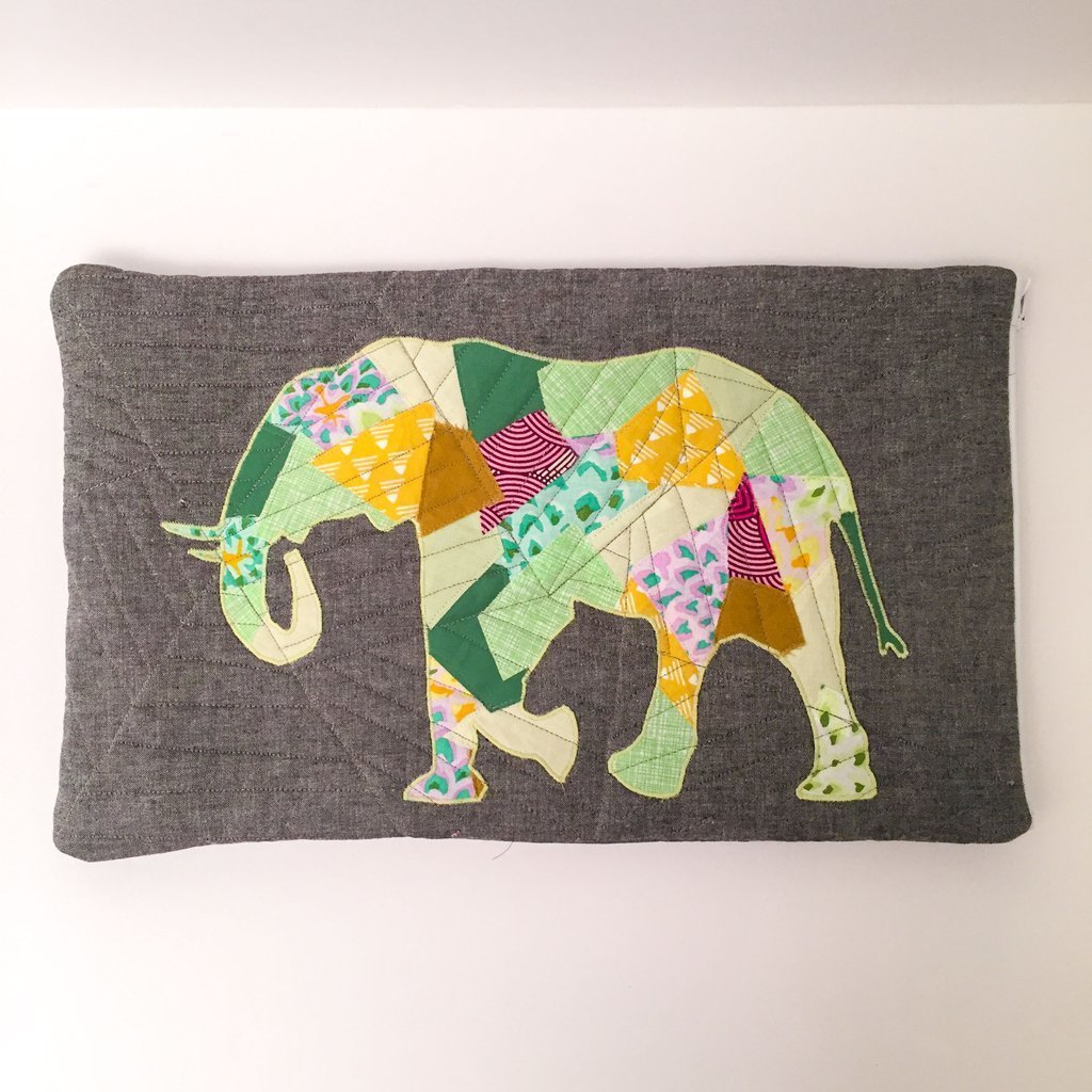 JULY 9-13 APPLIQUE ELEPHANT WALL HANGING 000502