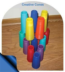 10 PLASTIC CREATIVE CONES - COLOR CHOICE