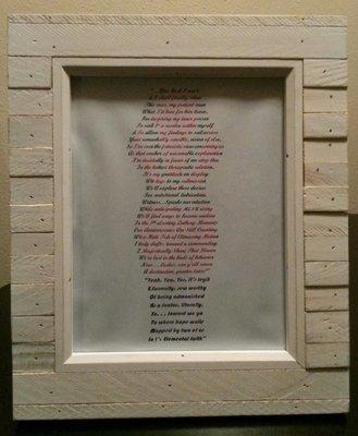 8(x)10 Standard Frame With Poem (Original)