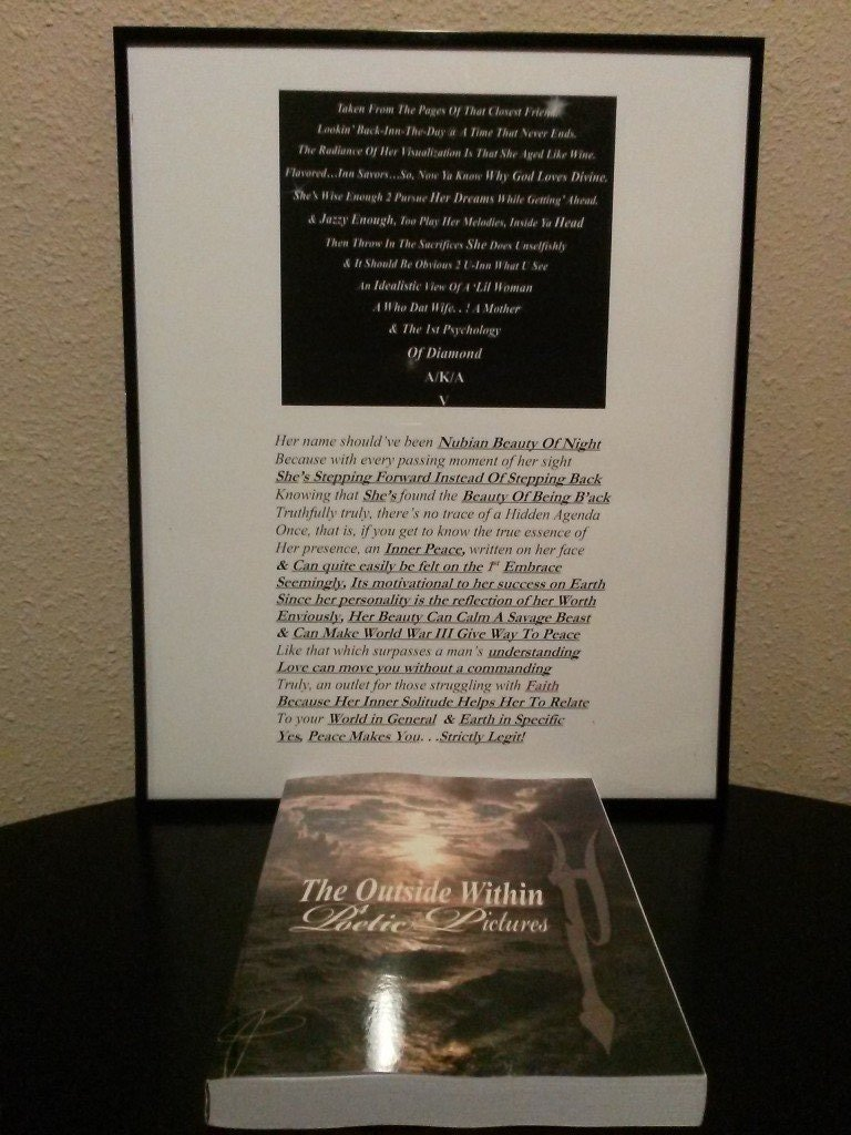 16(x)20 Standard Frame With Poem (Personalized)