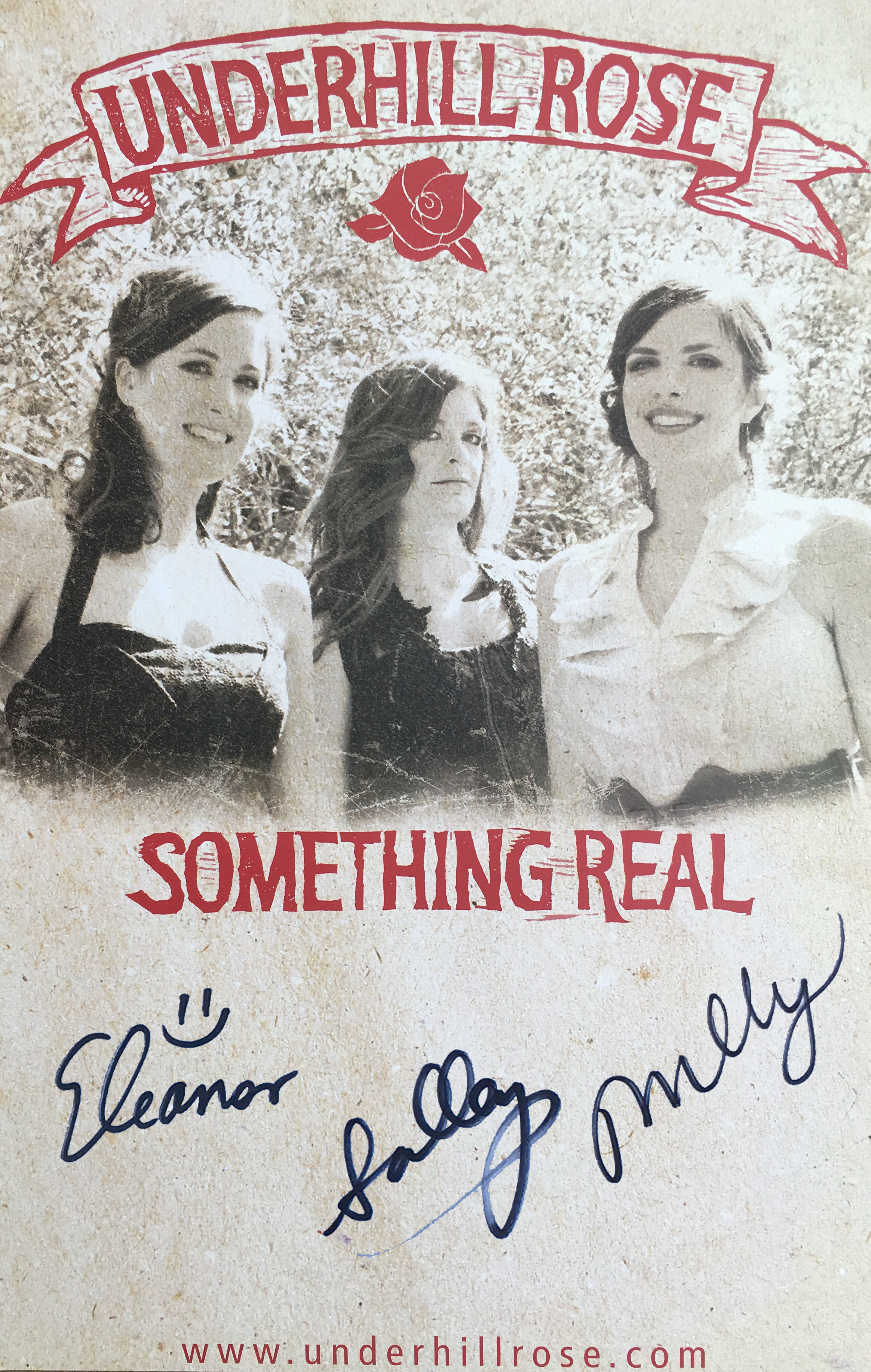 Signed Something Real tour poster 010