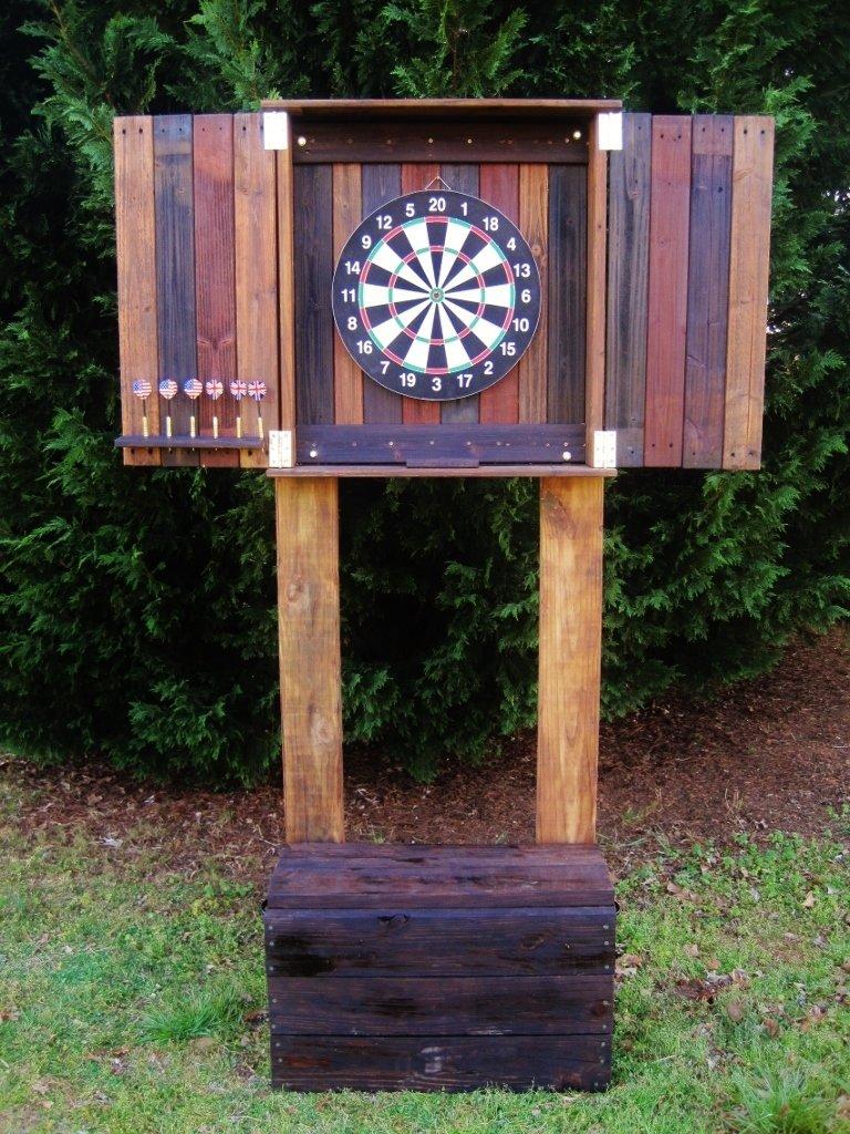 Portable Pub Dart Board Cabinet