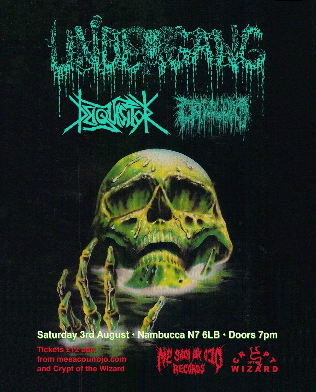 Undergang, Deiquisitor & Cryptworm - London Ticket - Nambucca - Saturday 3rd August 2019