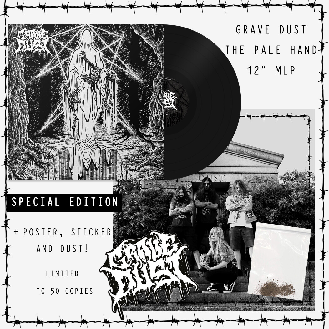 Grave Dust - The Pale Hand + Poster, Sticker, and Dust