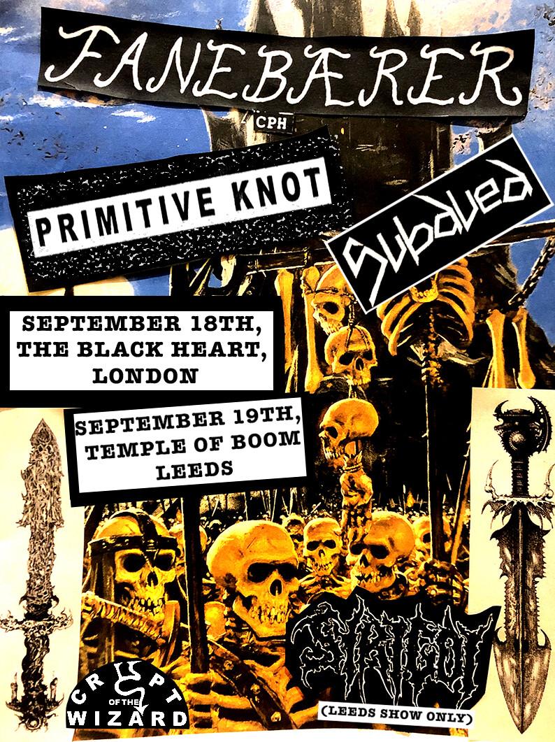 Fanebærer/Primitive Knot/Subdued September 18th, The Black Heart