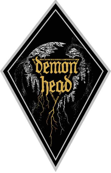 Demon Head - Patch - Gold/Silver