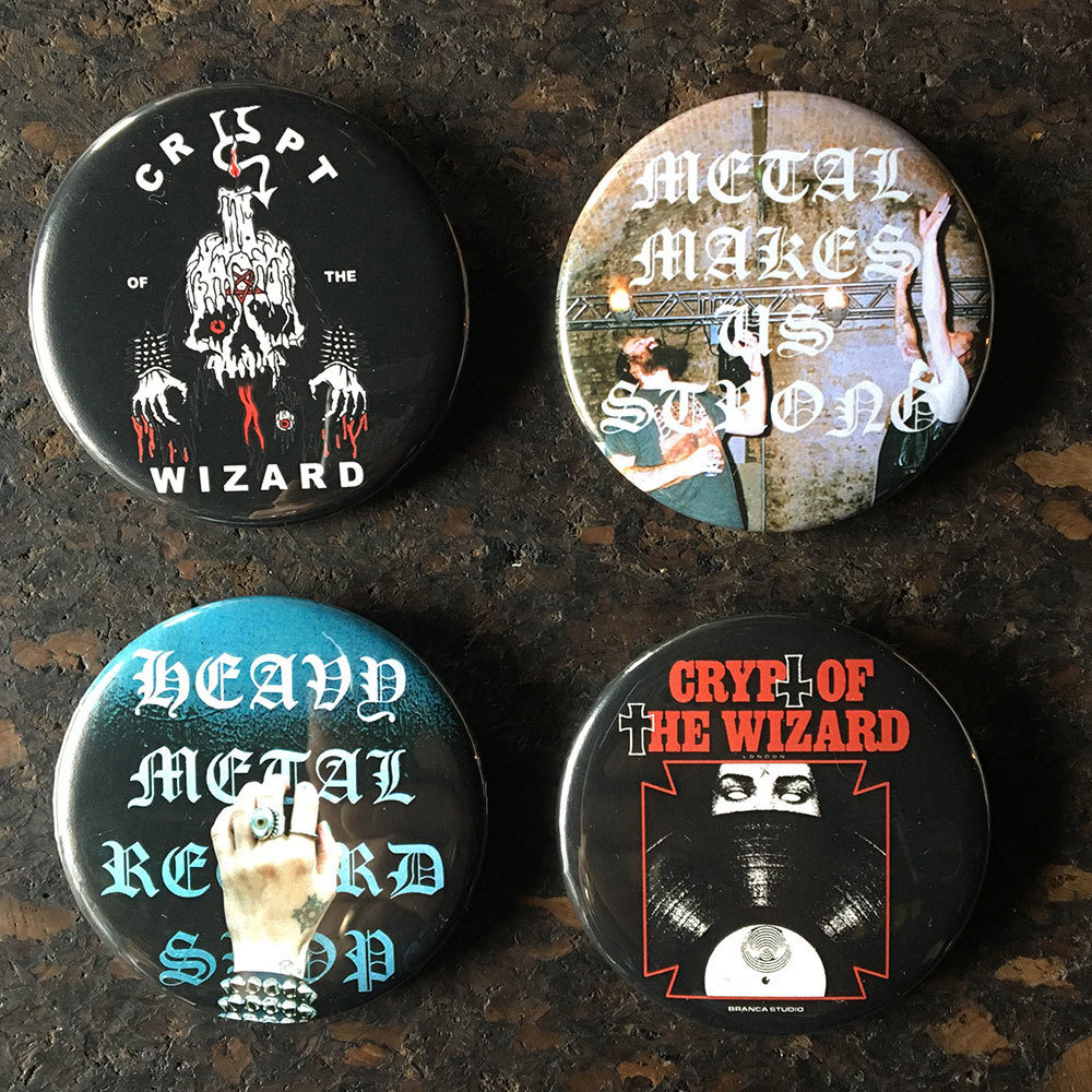 Pin bundle - Crypt of the Wizard (4 x 58mm) pin collection