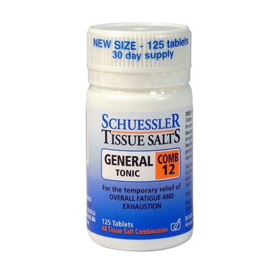 Schuessler Tissue Salts General Tonic Combo 125 tabs