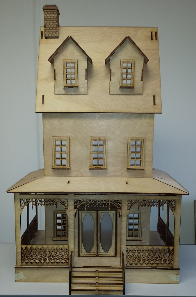 Abriana Large Country Cottage 1 12 Scale Dollhouse
