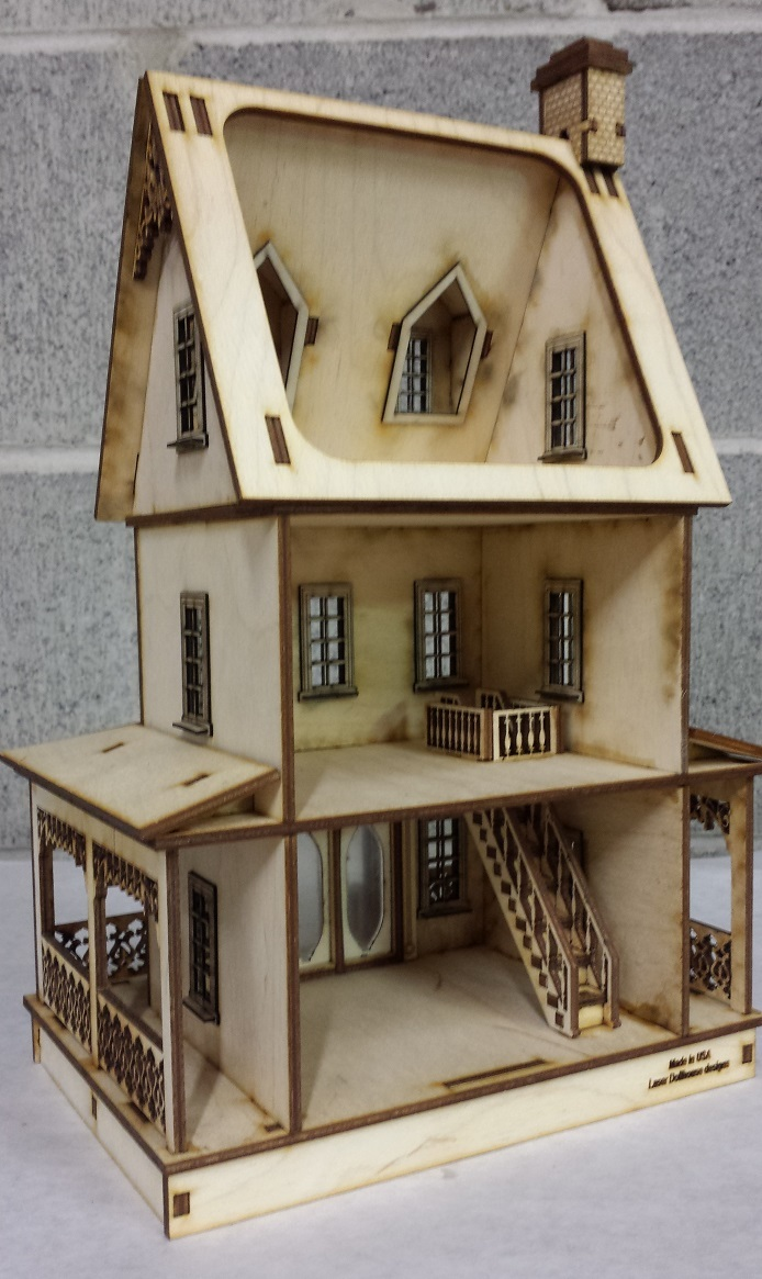 Abriana Large Country Cottage 1 48 Scale Dollhouse