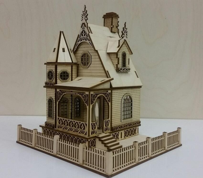 Jasmine Gothic Victorian Cottage Dollhouse 1 48 Scale