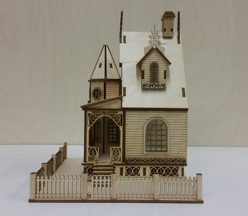 Jasmine gothic victorian cottage dollhouse 1 48 scale Victorian cottages kit homes