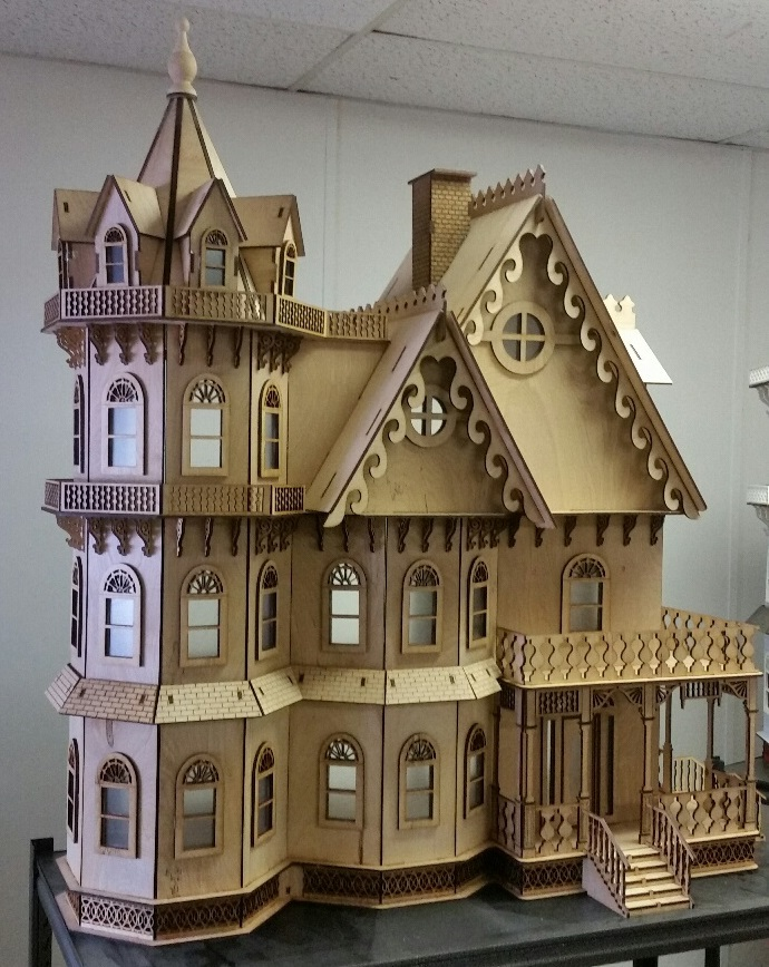 Leon gothic victorian mansion 1 12 scale for Victorian style kit homes