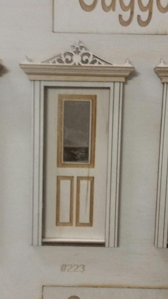 Classic Single Lite 3 Panel Exterior Door 124 Scale