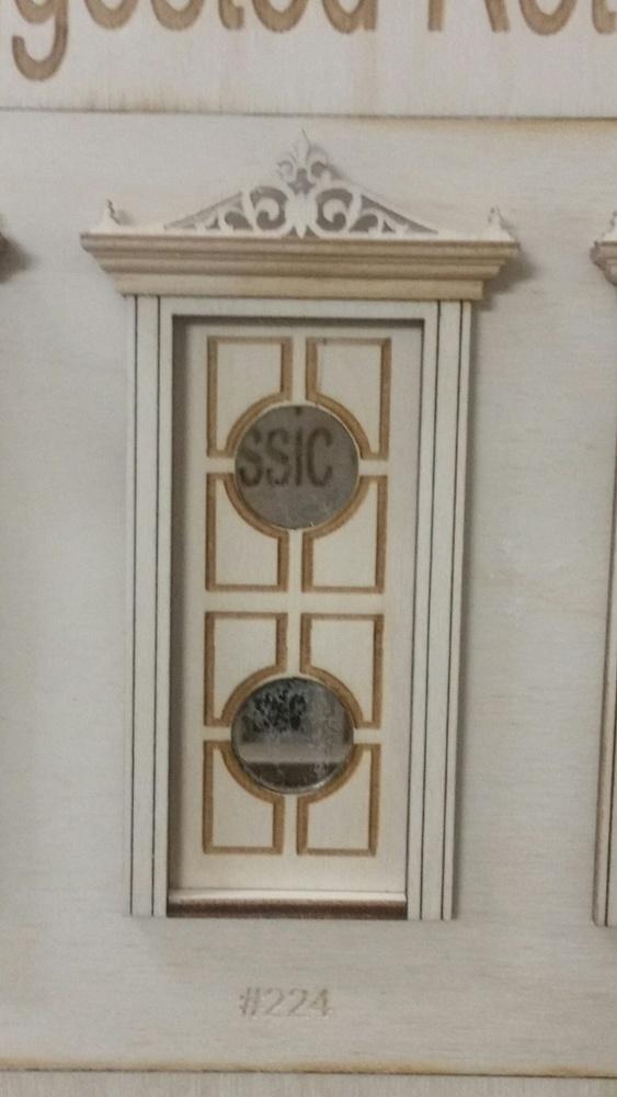 Classic Double Circle Lite Exterior Door 124 Scale