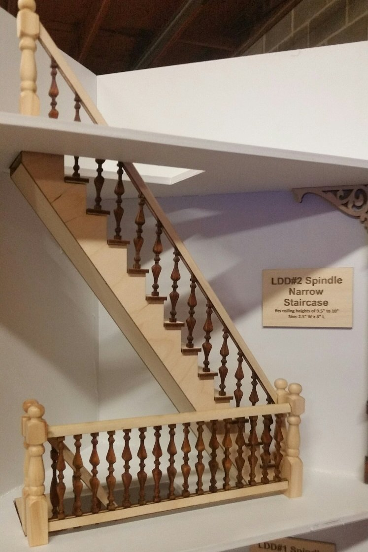 Ldd 2 Straight Narrow Spindle Staircase With Landing Handrails