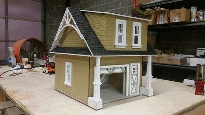 Lansdowne 1:12 scale Dollhouse 2 car garage//workshop