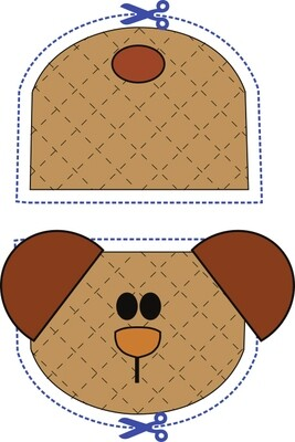 Cardinal bird animal oven mitt sewing machine pattern and tutorial