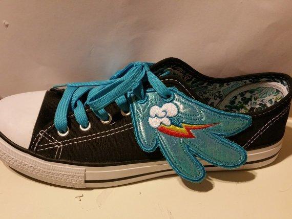 Rainbow dash adult customized shoe wings