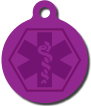 Engraved personalized medical alert pendant