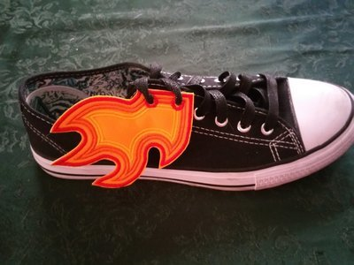 Flames adult customized shoe wings