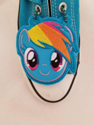 Rainbow dash inspired shoe toe charms (finished item) 2ea