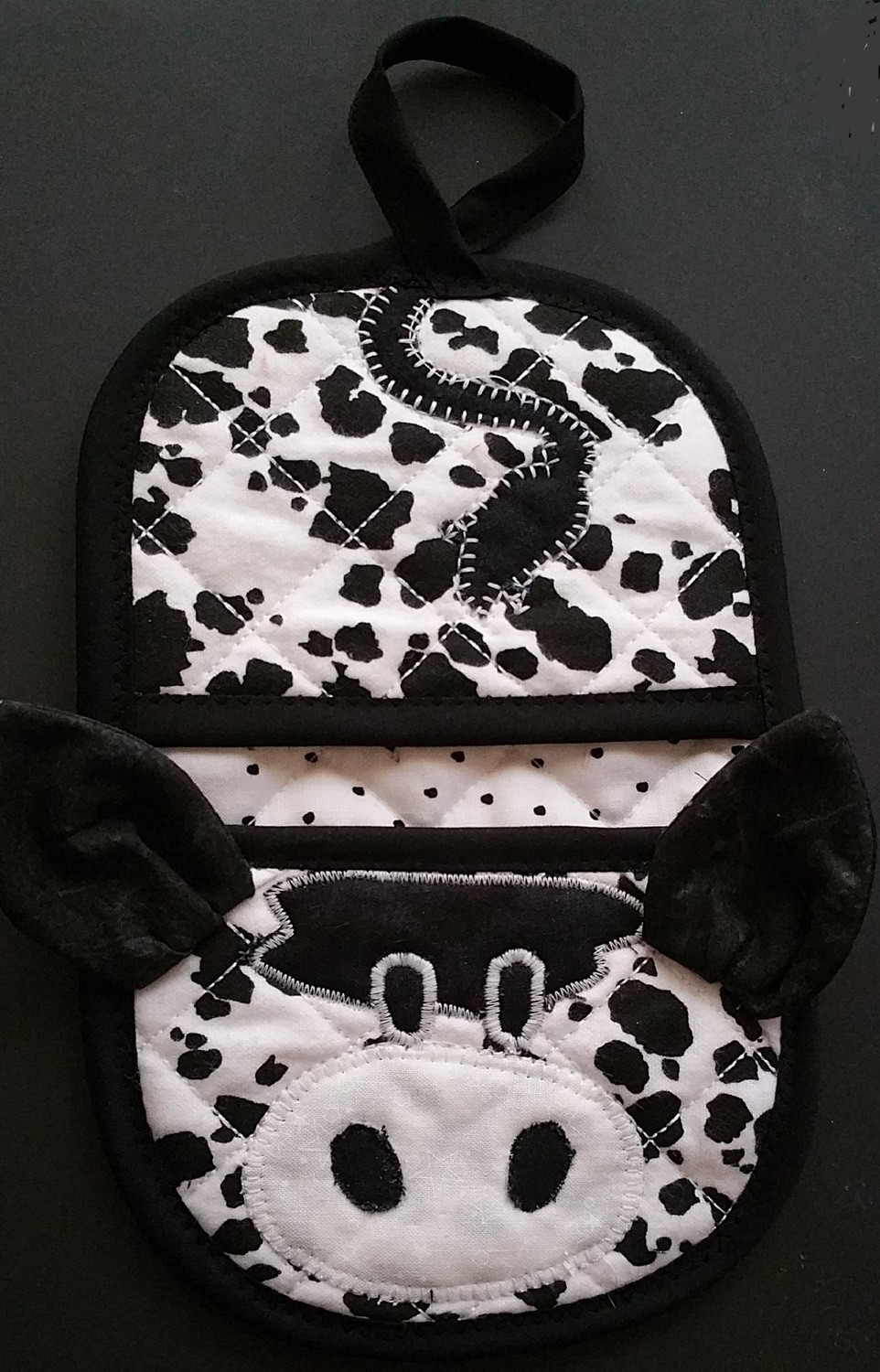 Cow animal oven mitt sewing machine pattern and tutorial
