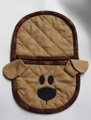 embroidery in the hoop doggie oven mitt