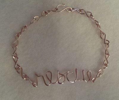Wire RESCUE bracelet, earrings or necklace
