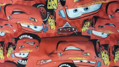 Cars movie lightning mcqueen cotton fabric - 1 yard