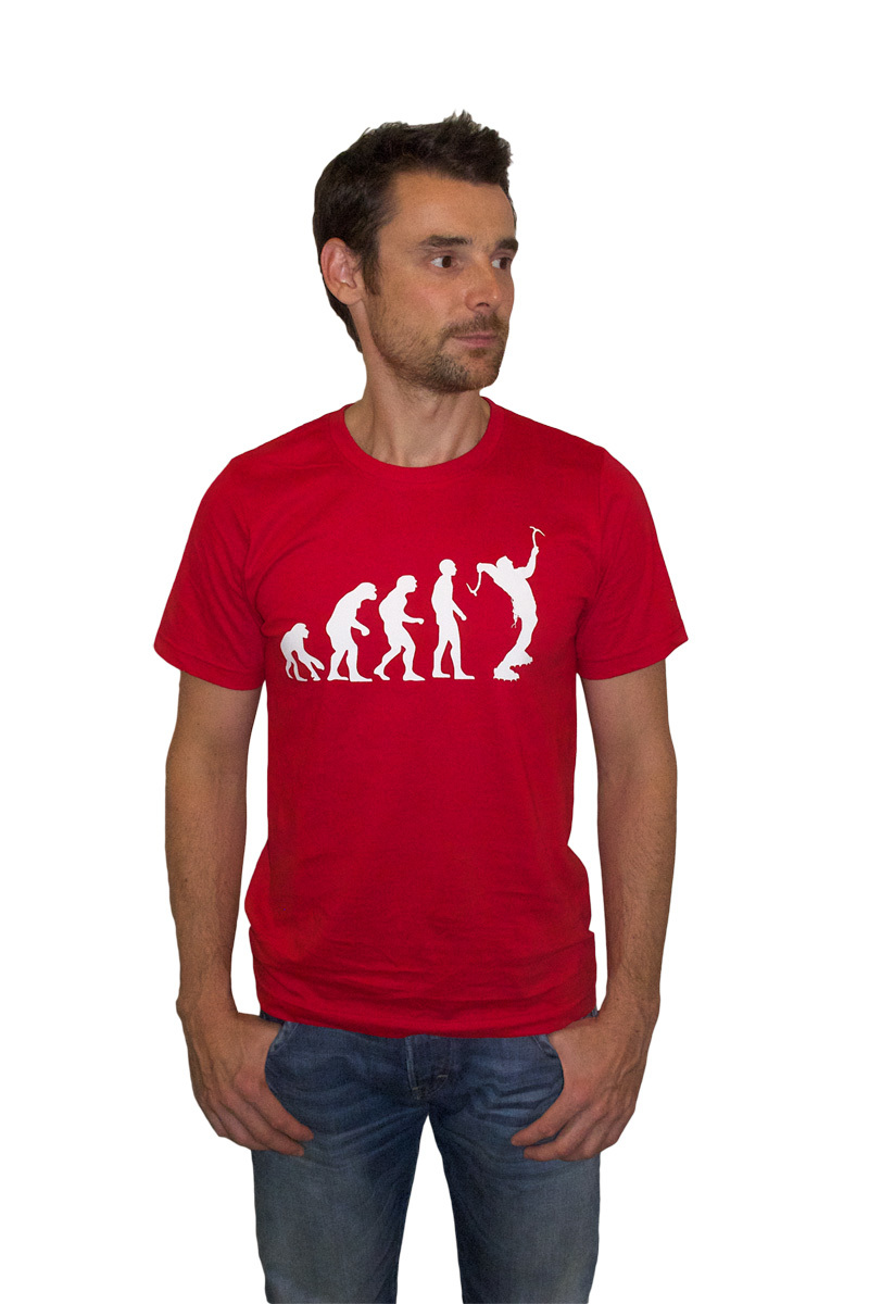 "T-Shirt ""Ice Climbing Evolution"" 00044"