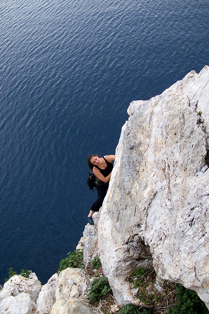 Bester Fels über dem Mittelmeer